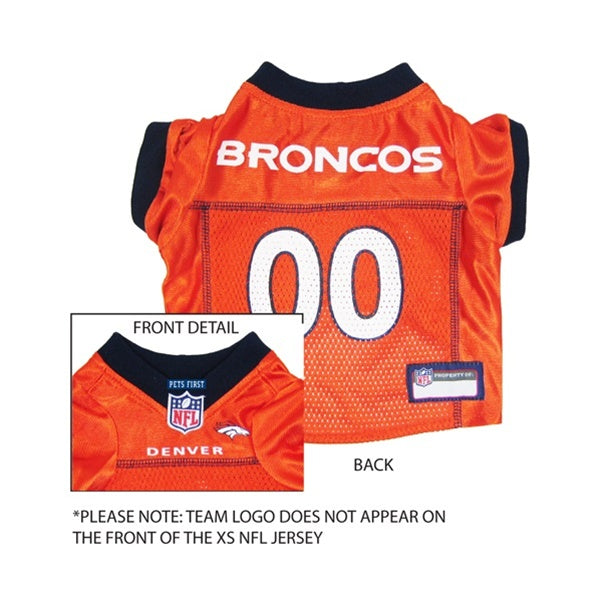 Denver Broncos Orange Pet Dog Jersey by Pets First