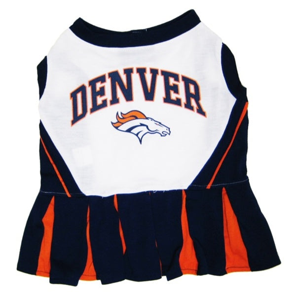 Denver Broncos Cheerleader Pet Dog Dress by Pets First