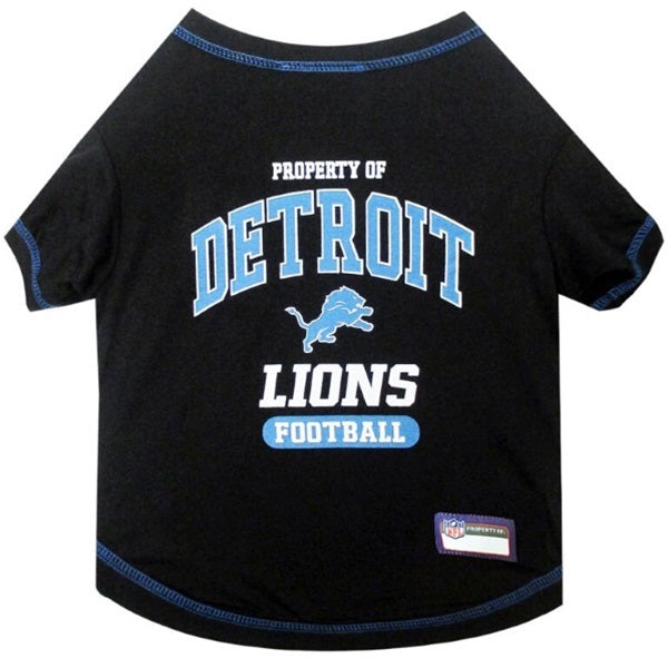 Detroit Lions Pet Dog T-Shirt by Pets First