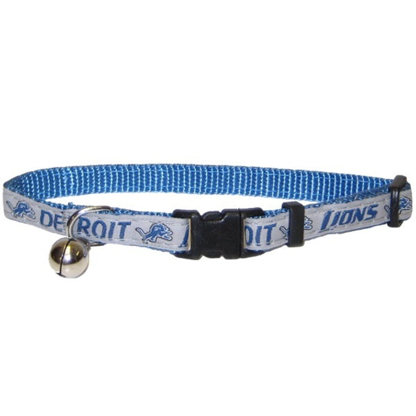 Detroit Lions Breakaway Pet Cat Collar by Pets First