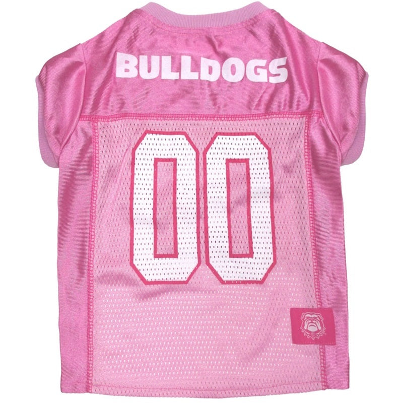 Georgia Bulldogs Pink Pet Dog Jersey by Pets First