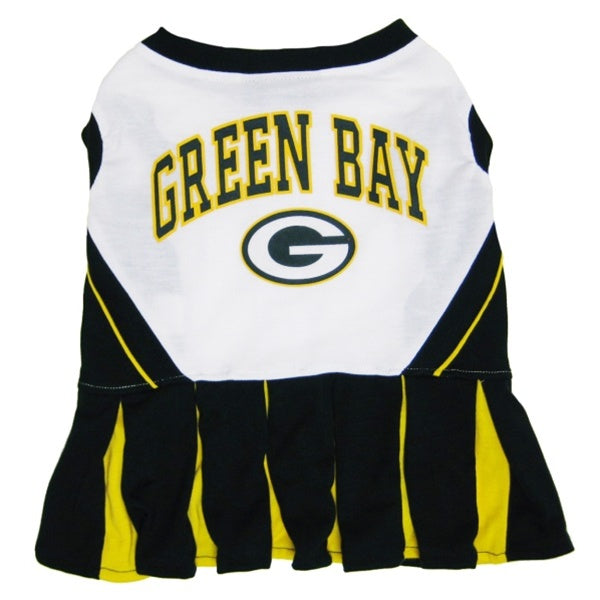 Green Bay Packers Cheerleader Pet Dog Dress by Pets First