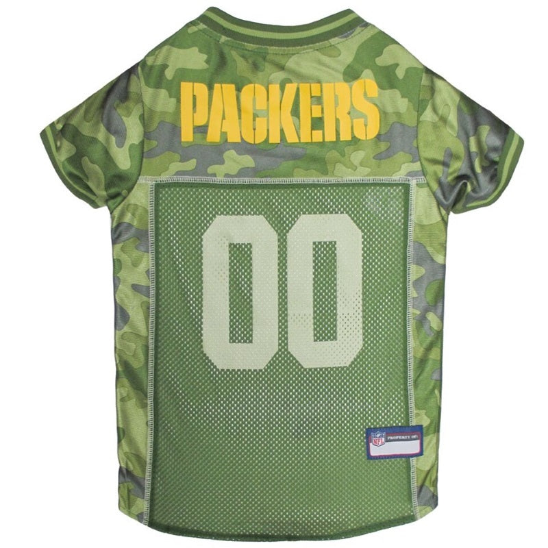 Green Bay Packers Pet Dog Camo Jersey by Pets First