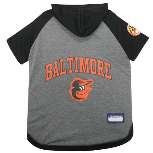 Baltimore Orioles Pet Dog Hoodie T-Shirt by Pets First