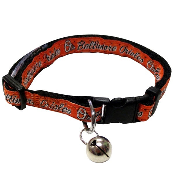 Baltimore Orioles Breakaway Pet Cat Collar by Pets First