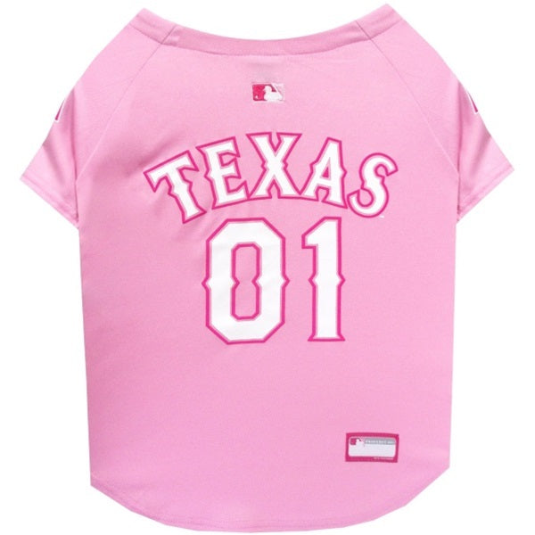 Texas Rangers Pink Pet Dog Jersey by Pets First