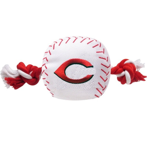 Cincinnati Reds Nylon Baseball Rope Tug Pet Dog Toy by Pets First