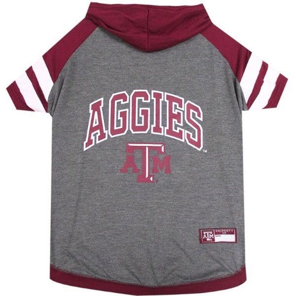 Texas A&M Aggies Pet Dog Hoodie T-Shirt by Pets First
