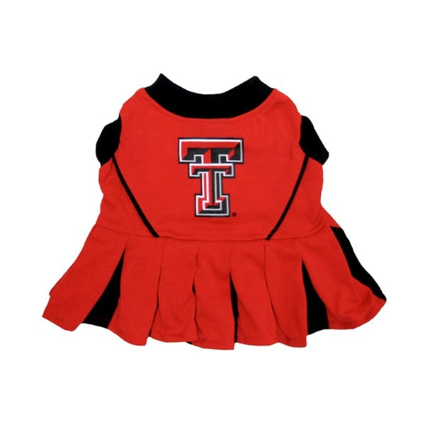 Texas Tech Red Raiders Red Raiders Cheerleader Pet Dog Dress by Pets First