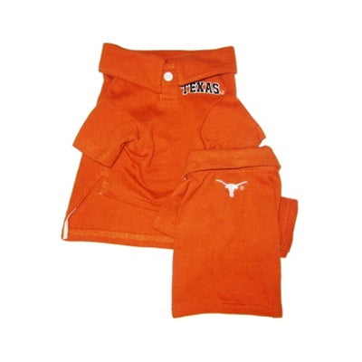 Texas Longhorns Pet Dog Polo Shirt by Pets First