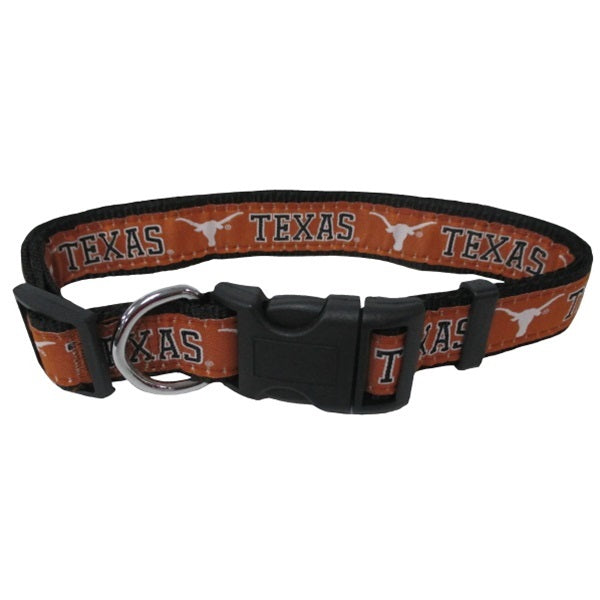 Texas Longhorns Pet Dog Collar by Pets First