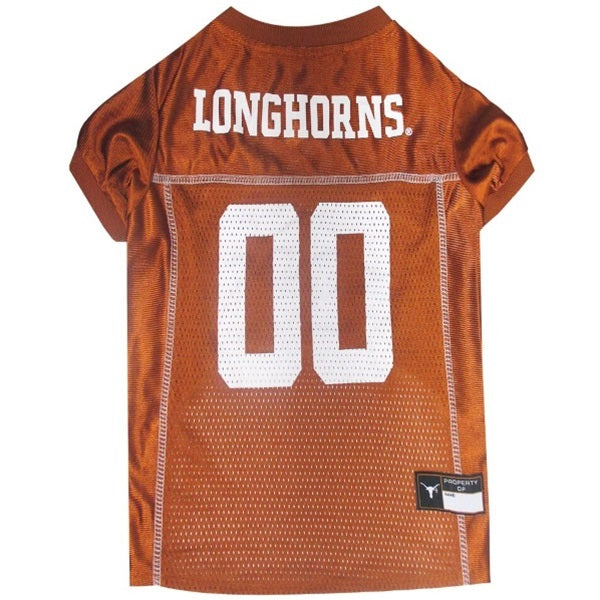 Texas Longhorns Pet Dog Jersey by Pets First