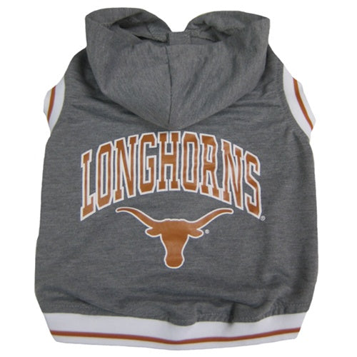 Texas Longhorns Pet Dog Hoodie Tee Shirt by Pets First