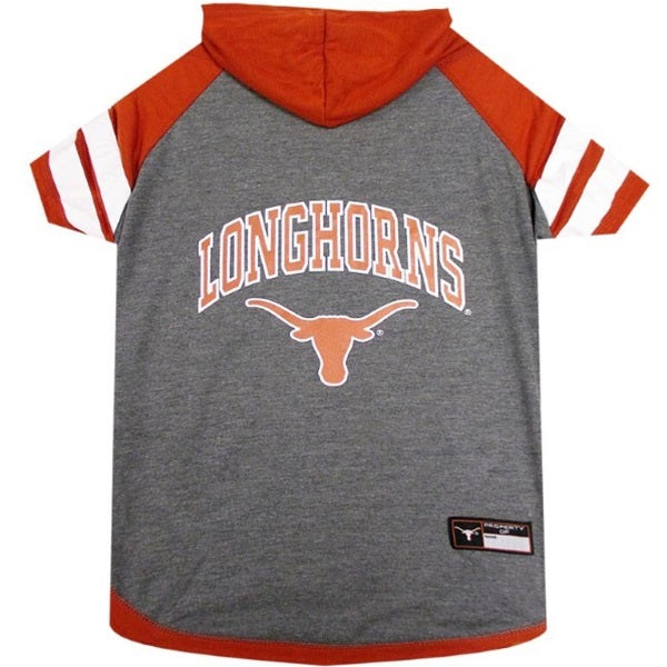 Texas Longhorns Pet Dog Hoodie T-Shirt by Pets First