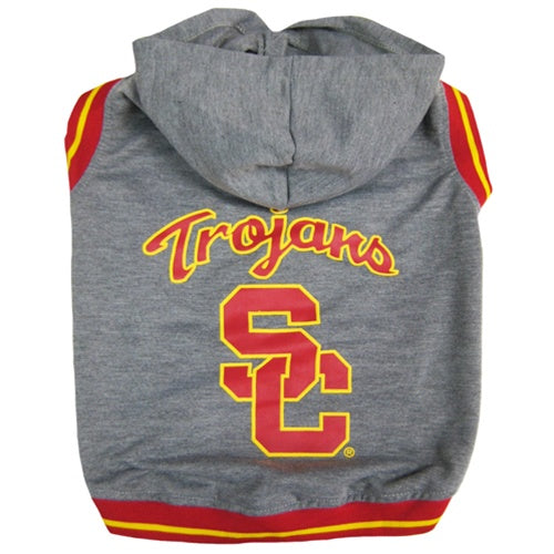 USC Trojans Pet Dog Hoodie Sweatshirt by Pets First