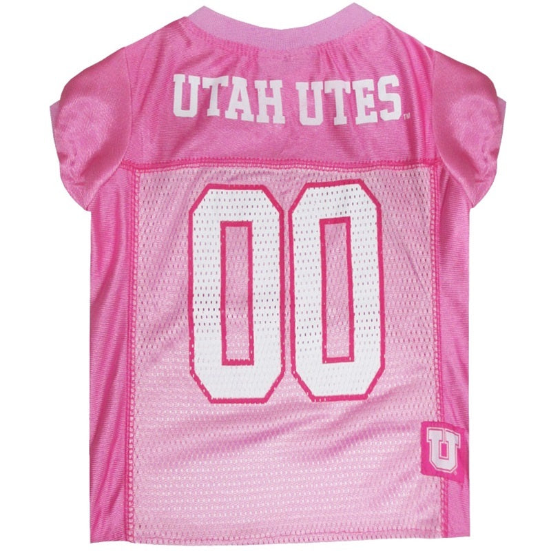 Utah Utes Pink Pet Dog Jersey by Pets First