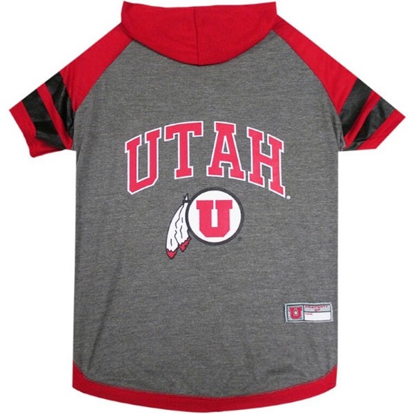 Utah Utes Pet Dog Hoodie T-Shirt by Pets First