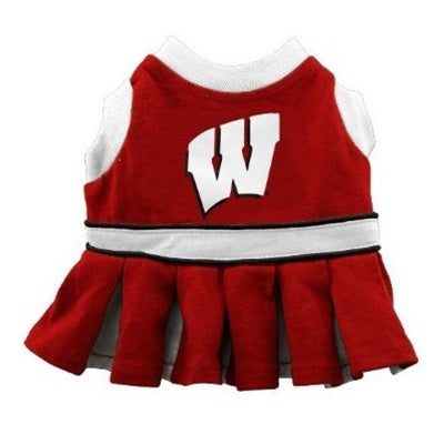 Wisconsin Badgers Cheerleader Pet Dog Dress by Pets First