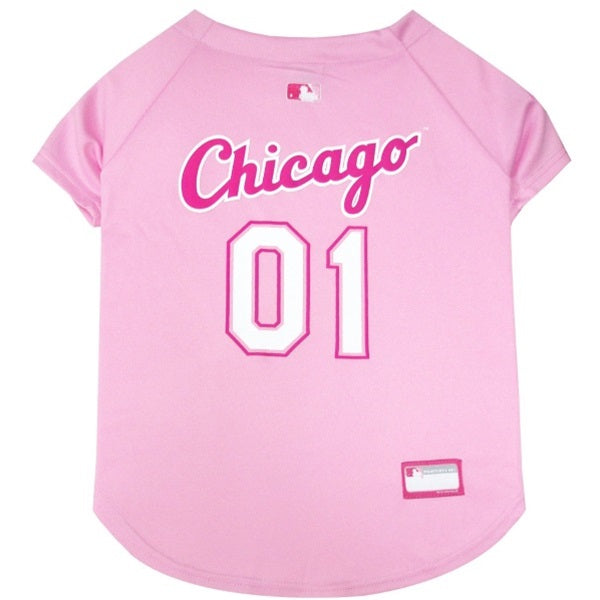 Chicago White Sox Pink Pet Dog Jersey by Pets First