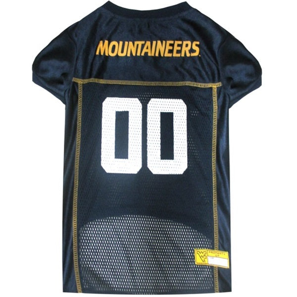 West Virginia Mountaineers Mountaineers Pet Dog Jersey by Pets First