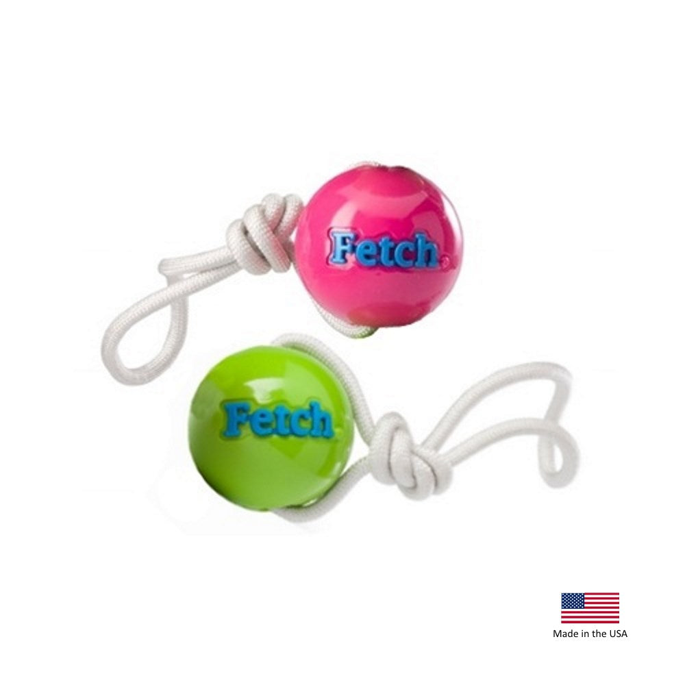 Orbee-Tuff'ΠWoof & Fetch Balls with Rope Pet Dog Toy by Planet Dog