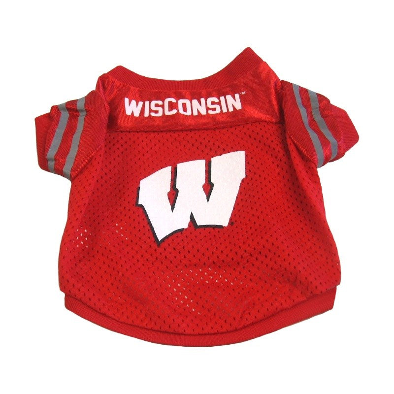 Wisconsin Badgers Collegiate Pet Dog Jersey by Pet Goods Manufacturing