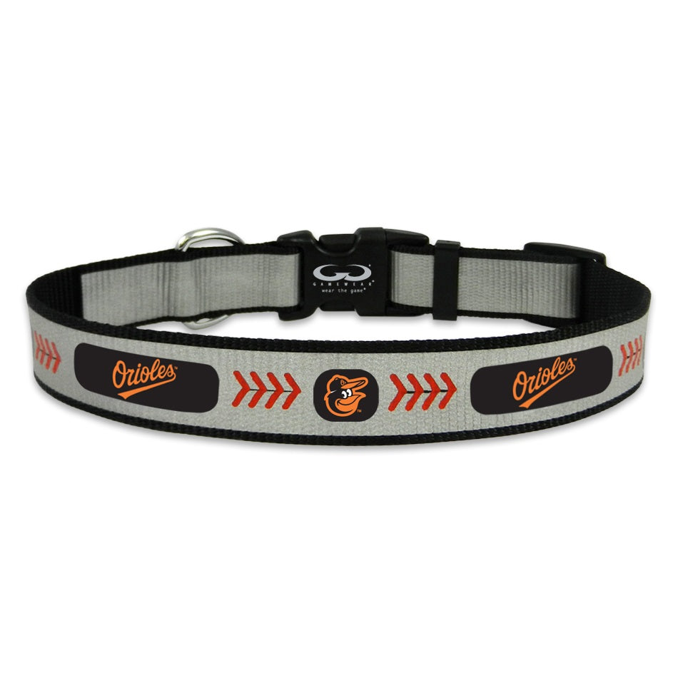 Baltimore Orioles MLB Reflective Pet Dog Collar by GameWear