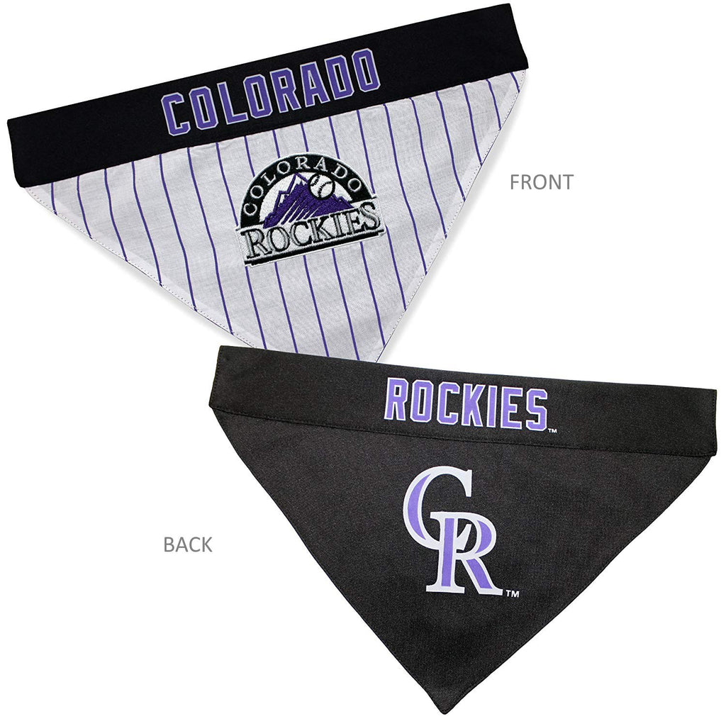 Colorado Rockies Pet Dog Reversible Bandana by Pets First