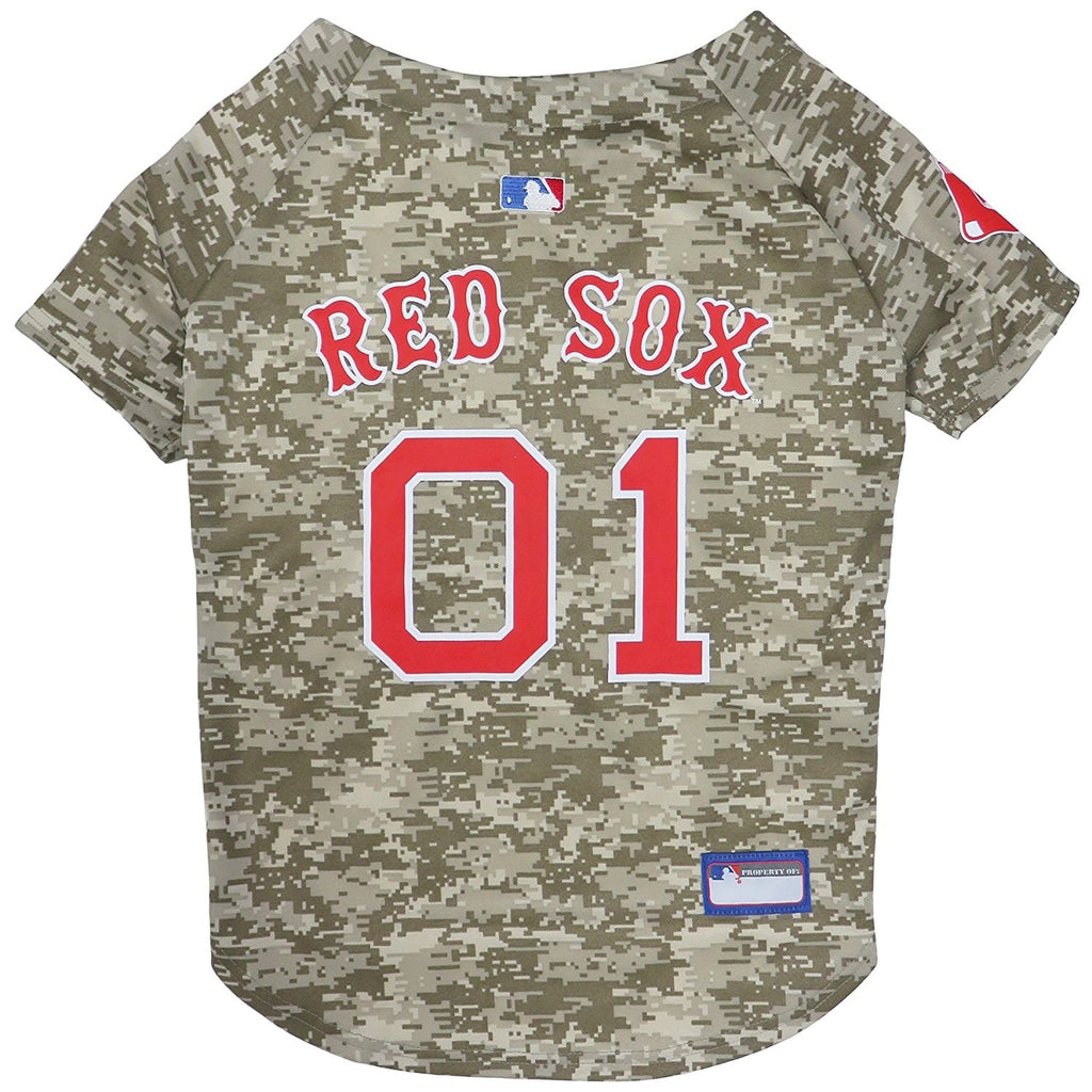 Boston Red Sox Pet Dog Camo Jersey by Pets First