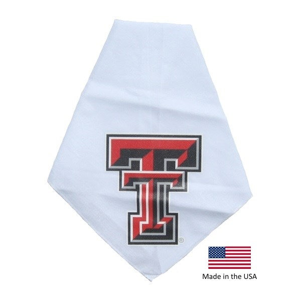 Texas Tech Red Raiders Red Raiders White Pet Dog Bandana by Smart Dog Products
