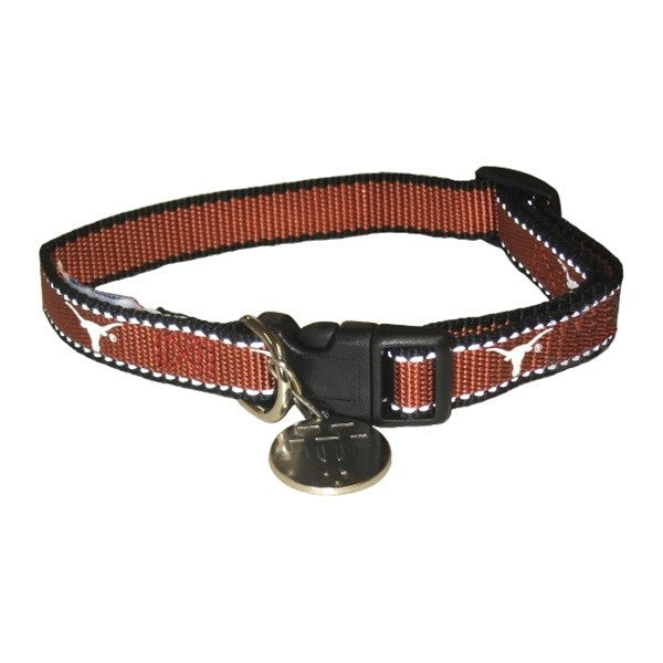 Texas Longhorns Reflective Pet Dog Collar by SportyK9