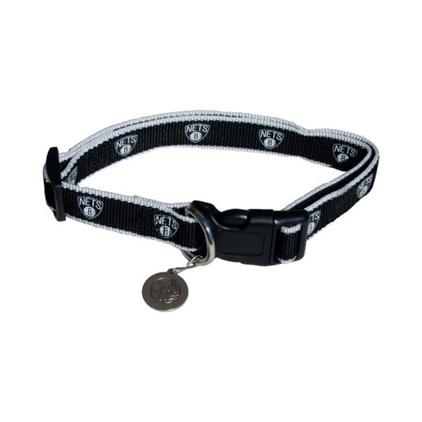 Brooklyn Nets Reflective Pet Dog Collar by SportyK9