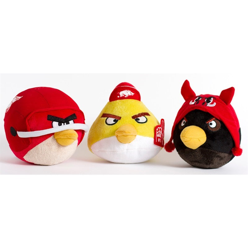 Arkansas Razorbacks Angry Birds Pet Dog Toy by Simon Sez