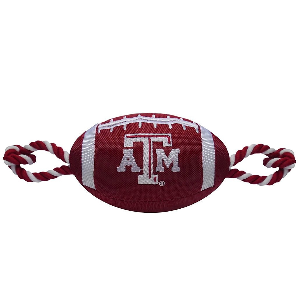Texas A&M Aggies Pet Dog Nylon Football Toy by Pets First