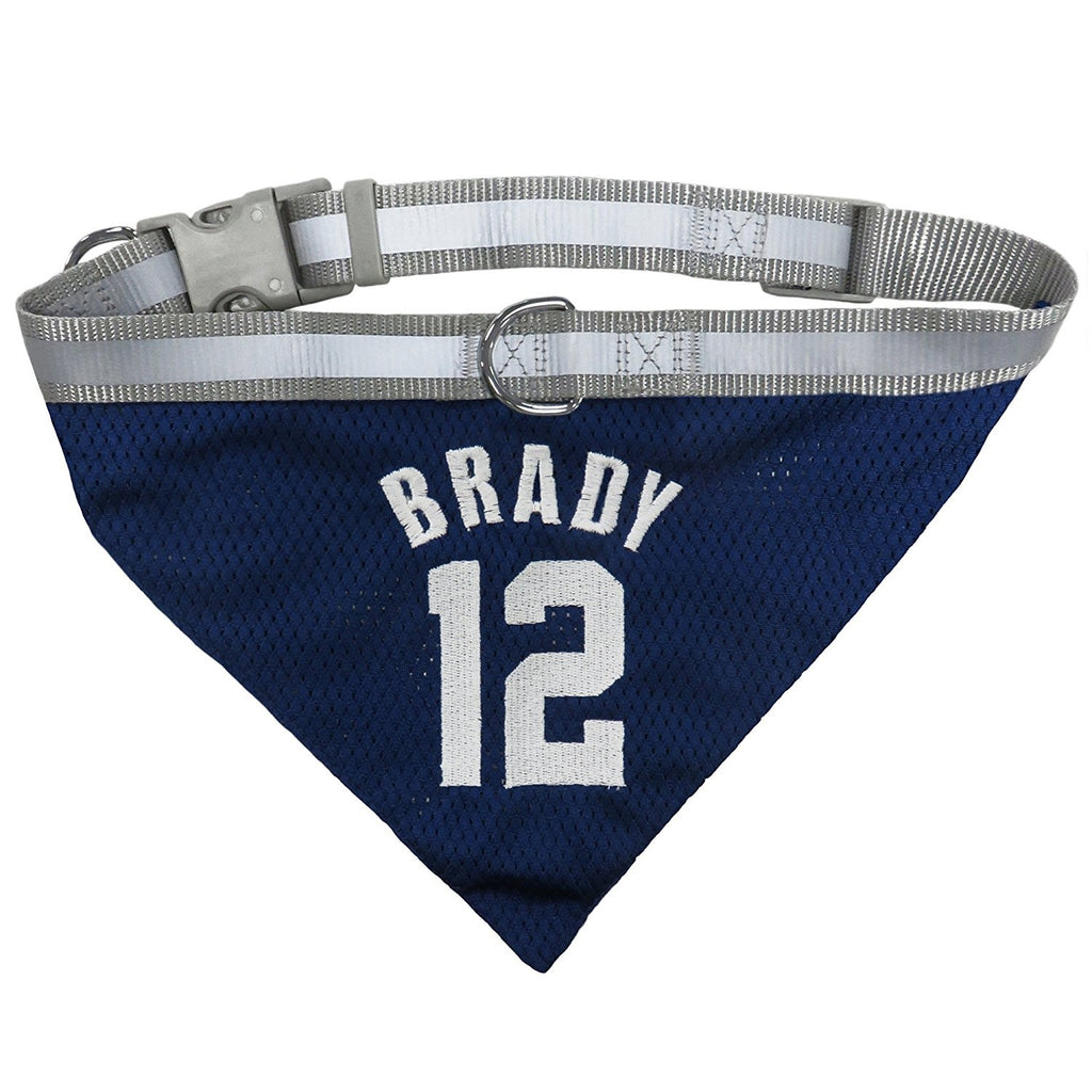 Tom Brady #12 Pet Dog Collar Bandana by Pets First