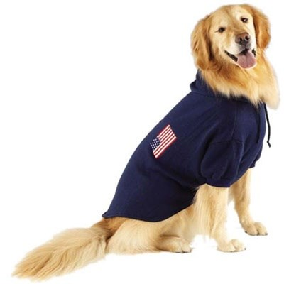 USA Flag Pet Dog Sweatshirt by Pet Edge