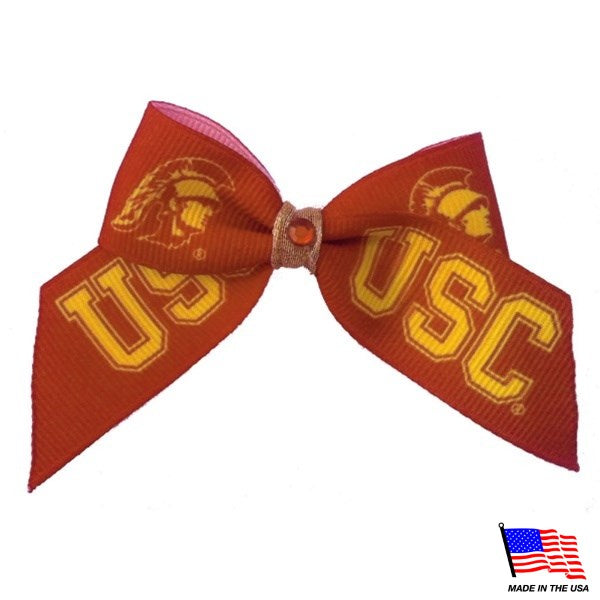USC Trojans NCAA Pet Dog Hair Bow by All Star Dogs