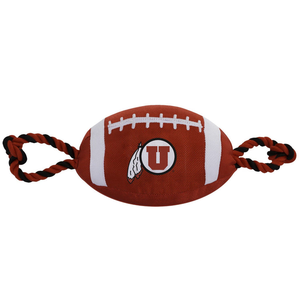 Utah Utes Pet Dog Nylon Football Toy by Pets First