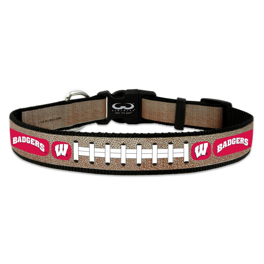 Wisconsin Badgers NCAA Reflective Football Pet Dog Collar by GameWear