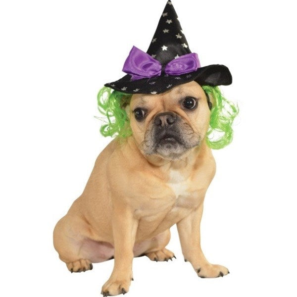Witch Pet Dog Hat With Hair by Rubie's Costume Co