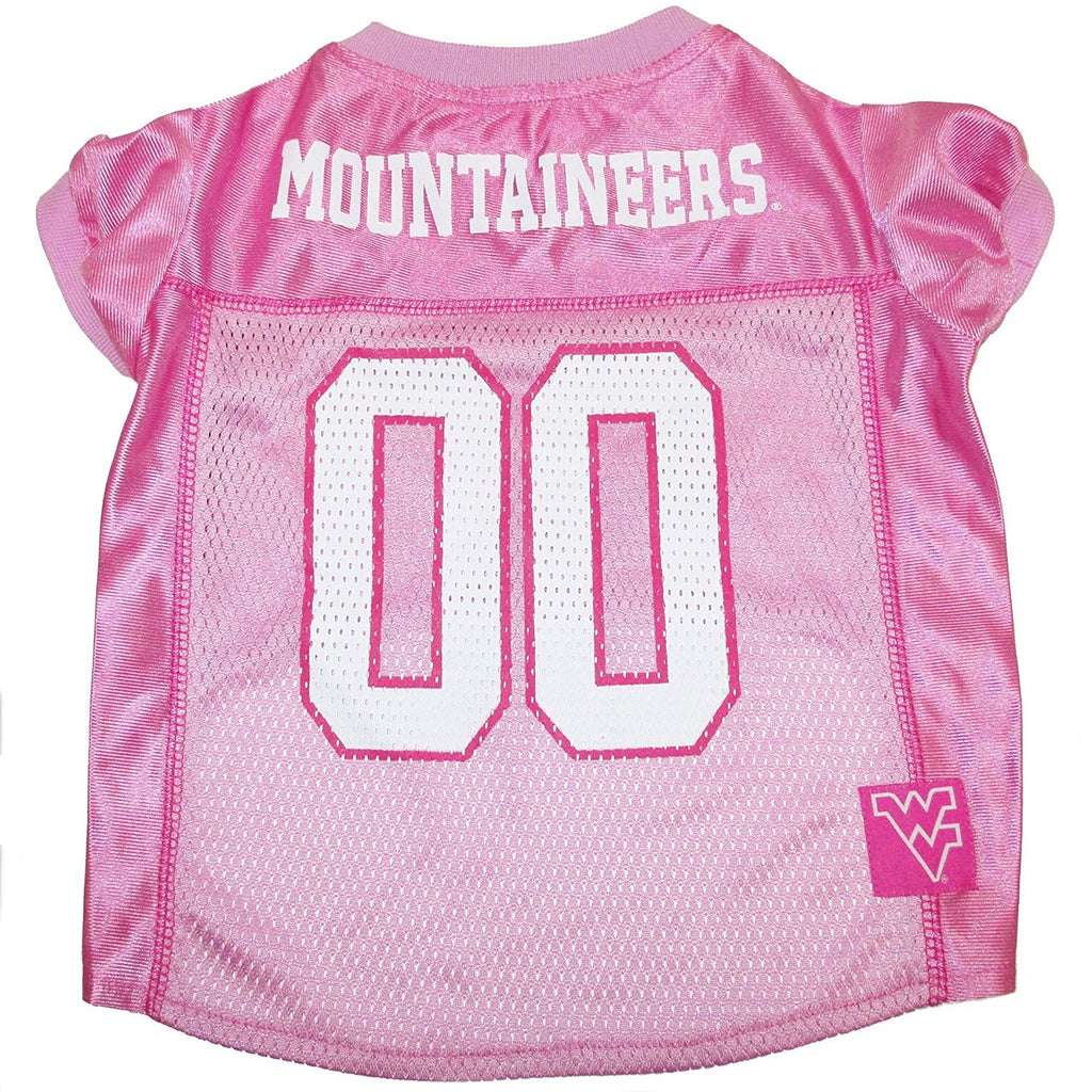 West Virginia Mountaineers Mountaineers Pink Pet Dog Jersey by Pets First