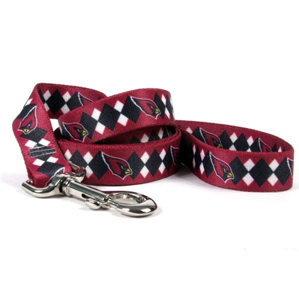 Arizona Cardinals Argyle Nylon Pet Dog Leash by Little Earth