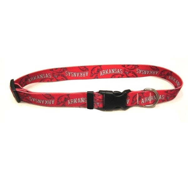 Arkansas Razorbacks Nylon Pet Dog Collar by Little Earth