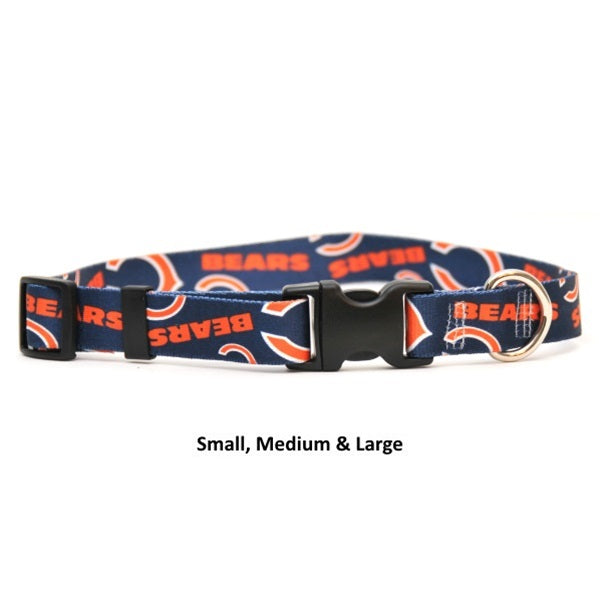 Chicago Bears Nylon Pet Dog Collar by Little Earth