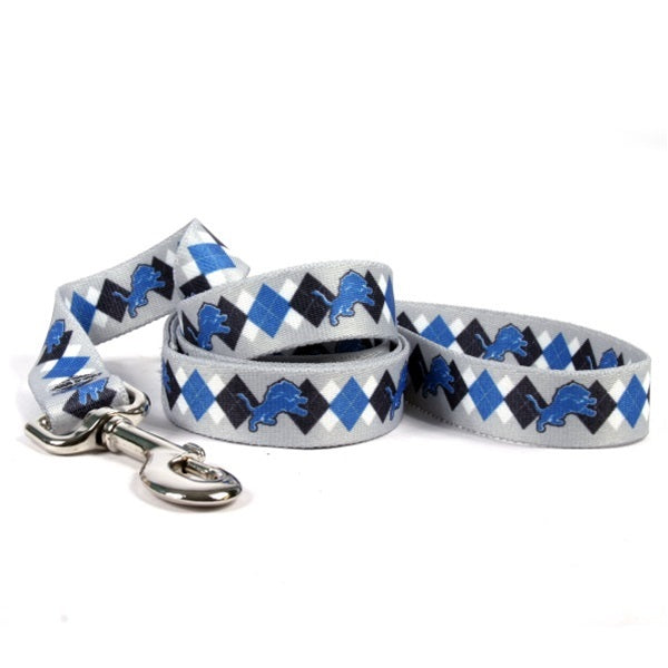 Detroit Lions Argyle Nylon Pet Dog Leash by Little Earth