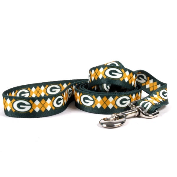 Green Bay Packers Argyle Nylon Pet Dog Leash by Little Earth