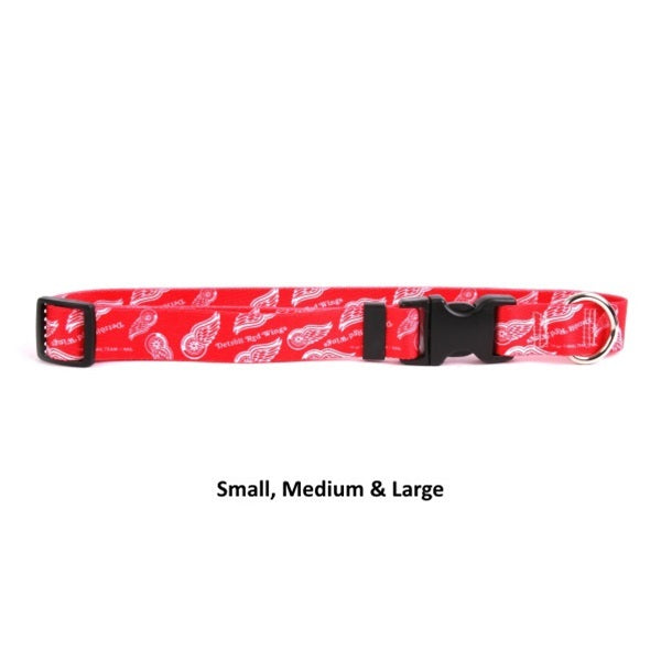 Detroit Red Wings Nylon Pet Dog Collar by Little Earth