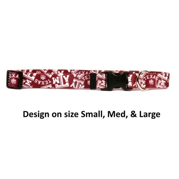 Texas A&M Aggies Nylon Pet Dog Collar by Little Earth