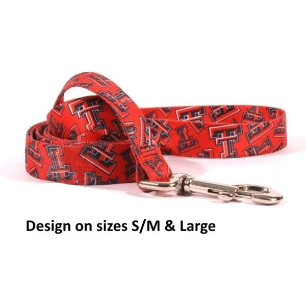 Texas Tech Red Raiders Red Raiders Nylon Pet Dog Leash by Little Earth