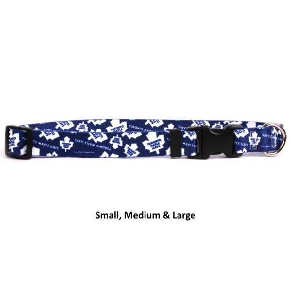 Toronto Maple Leafs Nylon Pet Dog Collar by Little Earth